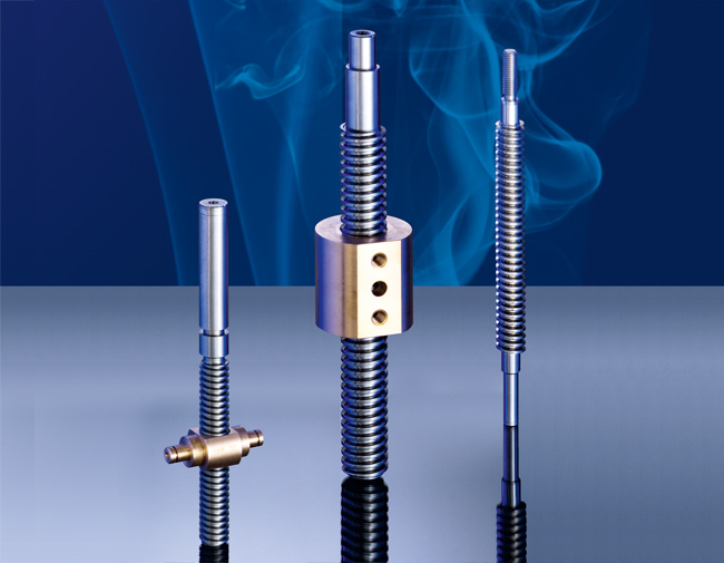 Trapezoidal threaded spindles